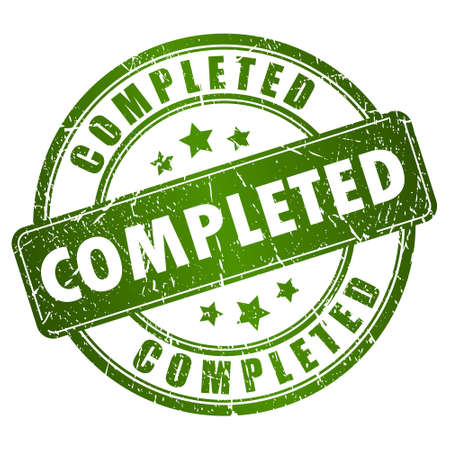 completato: timbro completato Vettoriali