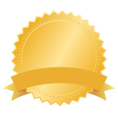 remise de prix: Vector blanc sceau d'or Illustration