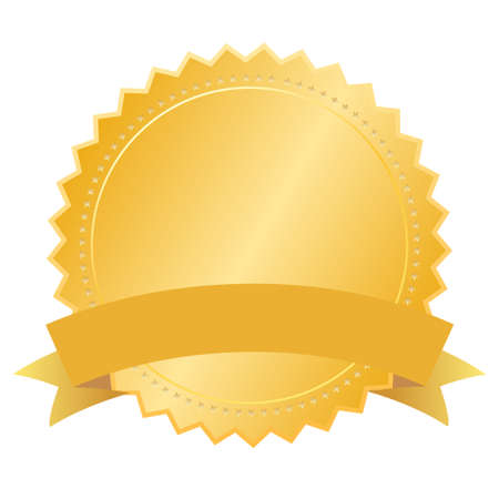 star award: Vector blank gold seal Illustration