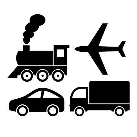 運輸: 運輸圖標 向量圖像