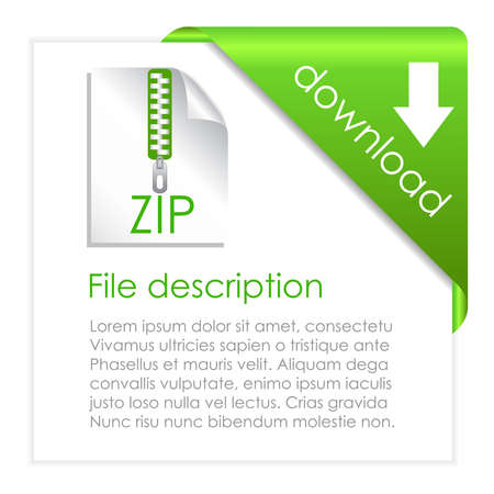 Zip archive download icon Stock Vector - 20002212