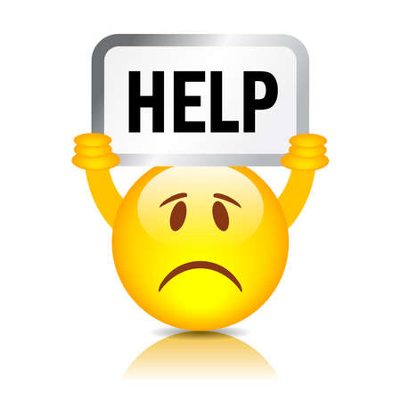 Help wanted smiley Иллюстрация