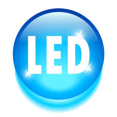 tecnologia: Ícone tecnologia LED