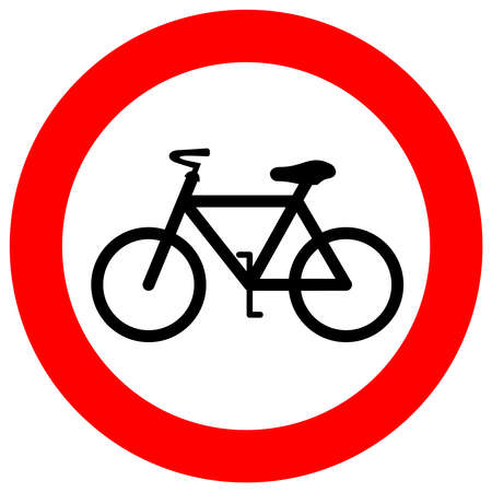 No bicycle sign Stock Vector - 20007991