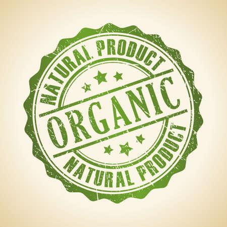 Organic stamp Illustration
