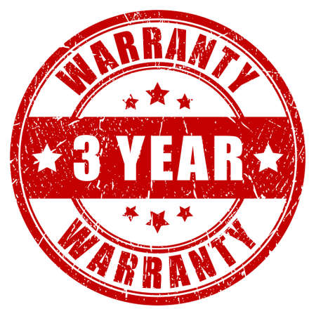 Three year warranty, vector stamp Vector