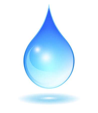 goutte de pluie: Verre goutte d'eau