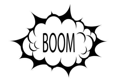 blank bomb: Boom cloud Illustration