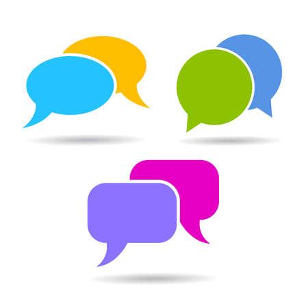 textbox: Speech bubble icons Illustration