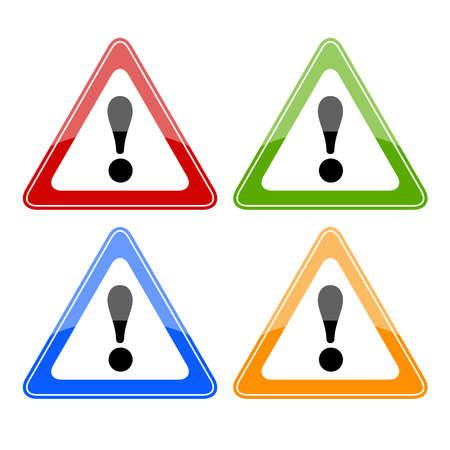 panneaux danger: Les signes de danger Illustration