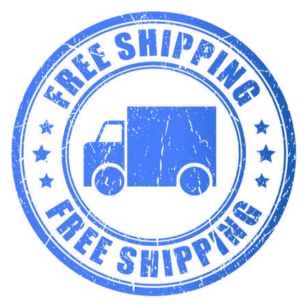 Free shipping, stamp illustration Vector