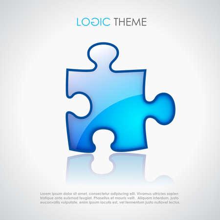 puzzling: Puzzle, logic theme design Illustration