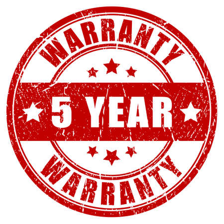 Five year warranty stamp Vector