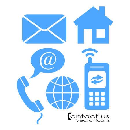 Póngase en contacto con símbolos Foto de archivo - 20673082