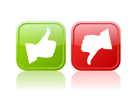 feedback sticker: Thumb up and down buttons