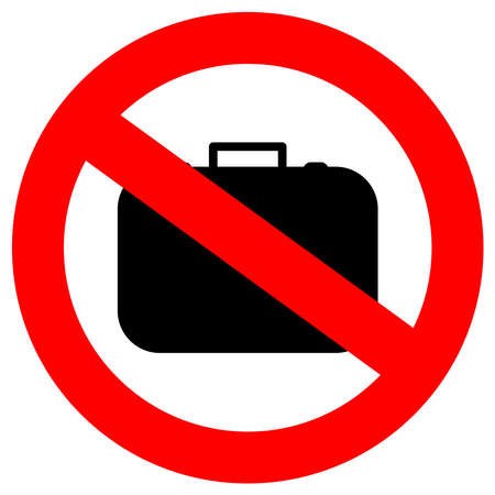 suitcases: No hand baggage sign