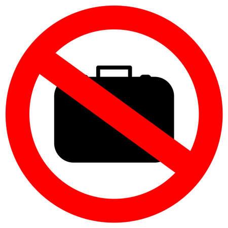 No hand baggage sign Stock Vector - 20673089