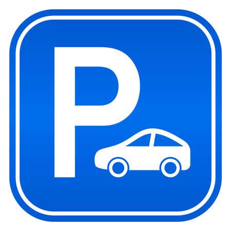 voiture parking: Signe de stationnement de voiture