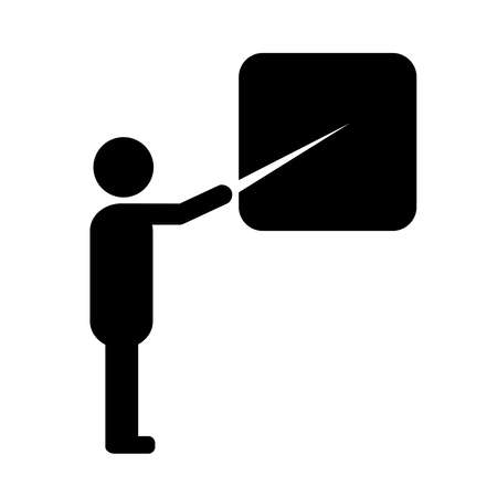 or instruction: Teacher symbol Illustration