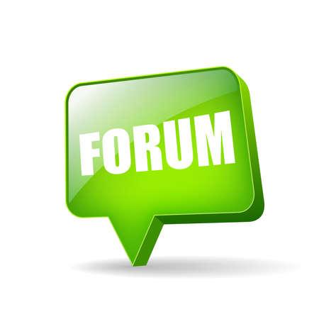 talk balloon: Internet forum icon