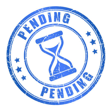 Pending stamp Vector