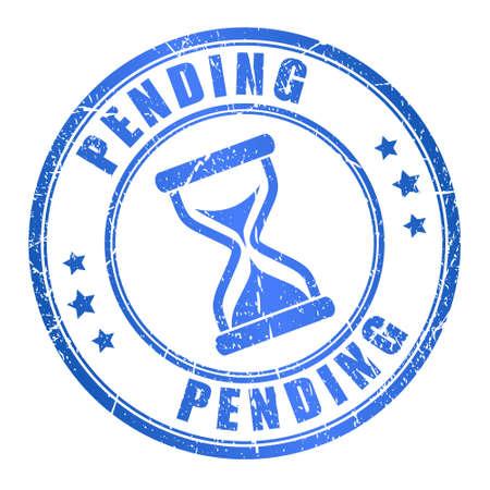 impending: Pending stamp Illustration