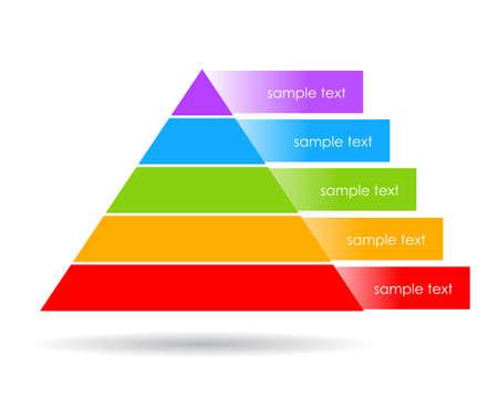 levels: Gelaagde piramide illustratie