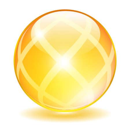 flashy: Yellow glass ball