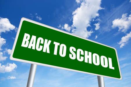 back roads: Back to school sign