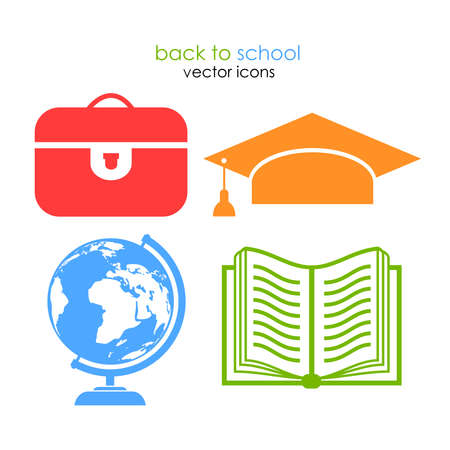 School icons Stock Vector - 21550019