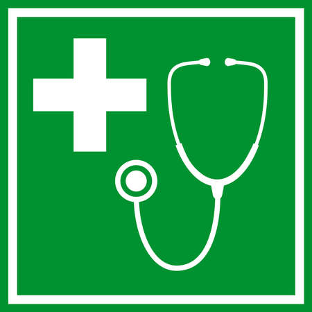 emergency room: First aid sign