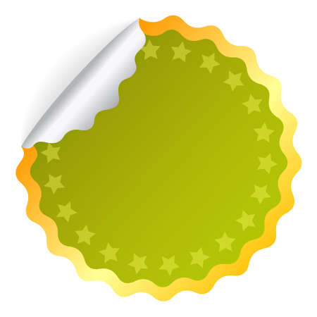 Green sticker Vector