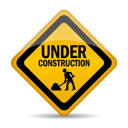 mending: Under construction sign