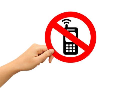 Geen mobiele telefoon teken
