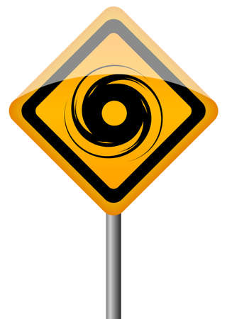 tornadoes:  tornado sign illustration