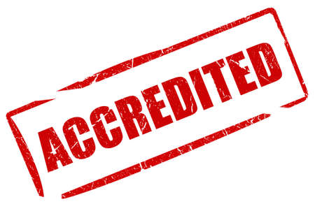 official symbol: Accredited stamp Stock Photo