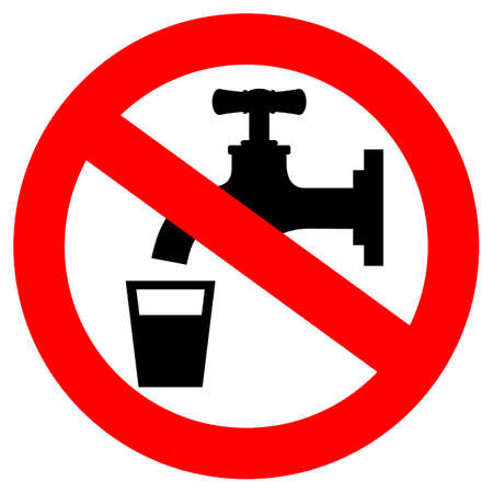 Do not drink water sign Vector