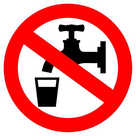 Trinken Sie nicht Wasser Zeichen Standard-Bild - 21550198