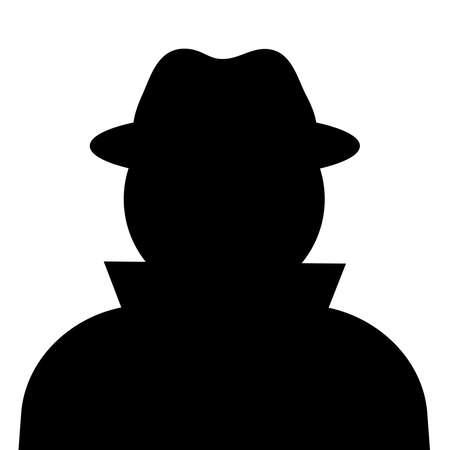 the stranger: Unknown person silhouette