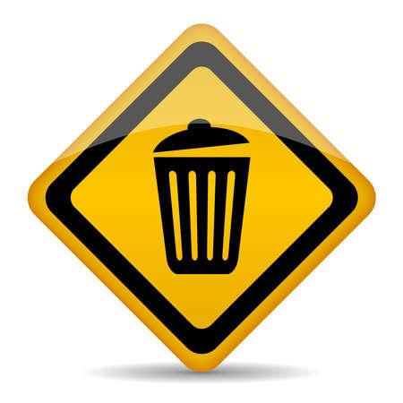 Trash bin signe