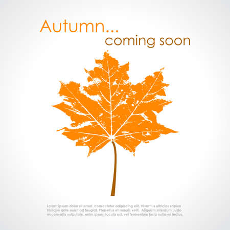 withered: Autumn poster Illustration