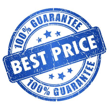 Timbre de garantie de prix meilleur Banque d'images - 21936789
