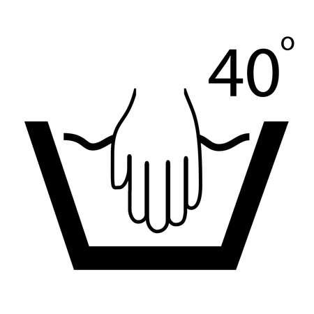 handwash: S�mbolo Lavado de manos Vectores