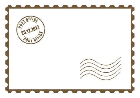 Blank Postkarte Standard-Bild - 21936819