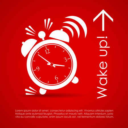 clock icon: Wake up poster