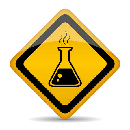 be careful: Danger chemicals sign