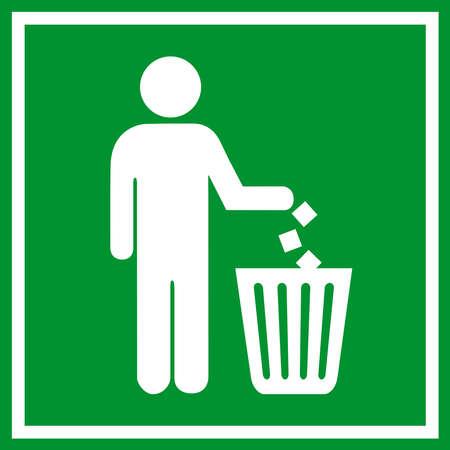 trash basket: No firme la basura