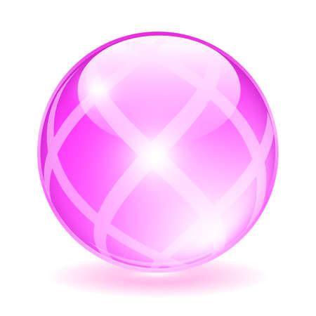 transparen: Cristal rosa orbe ilustración