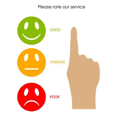 Customer service feedback Ilustração