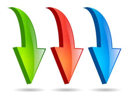 flechas curvas: Flechas establece Vectores